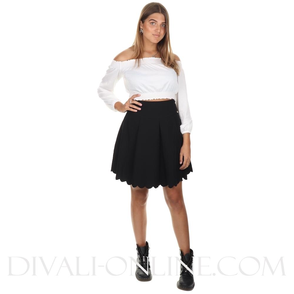 Heather Skirt Black
