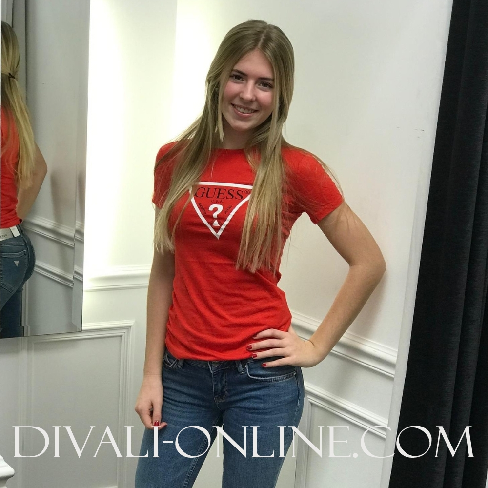 T-shirt Basic logo Red