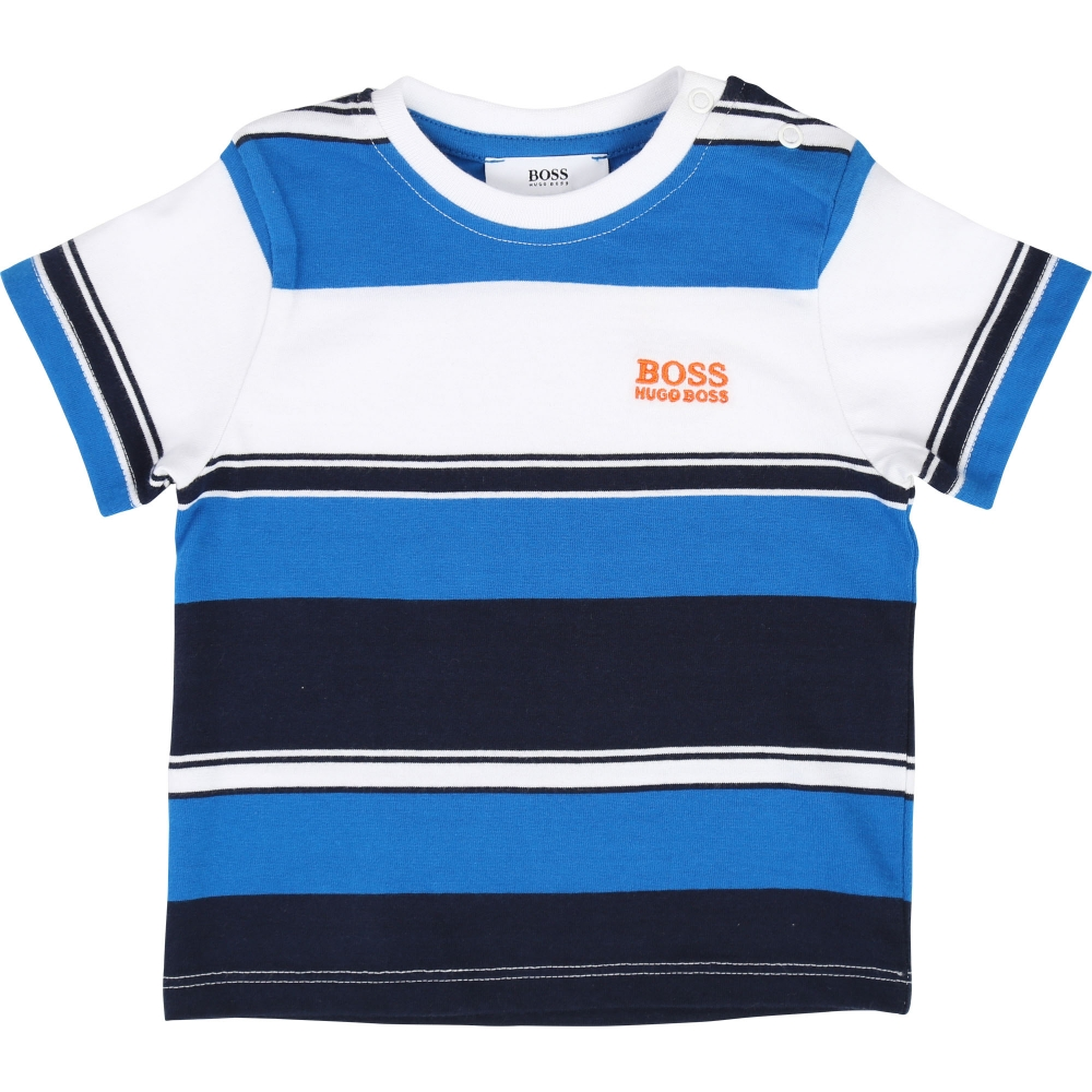 T-shirt Stripes Marine  Blauw