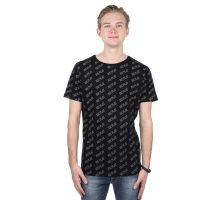 Iceplay T-shirt All-over logo Black-white
