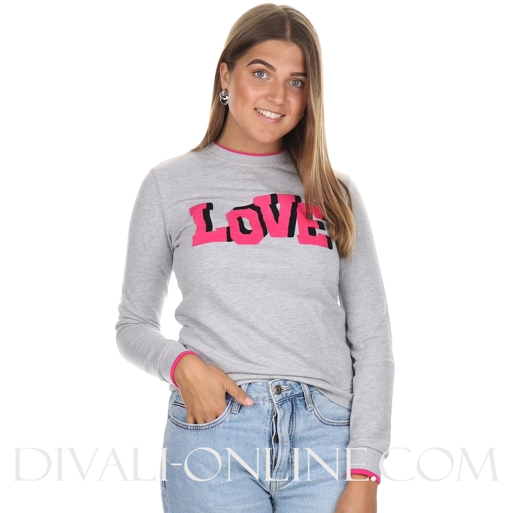 Sweater Artwork Grey Melange