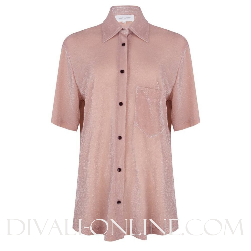 Blouse Short Sleeves Pink