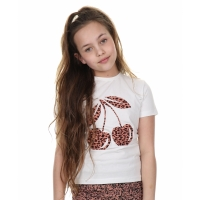 Jacky Luxury Kids T-Shirt Cherry Leopard Pink