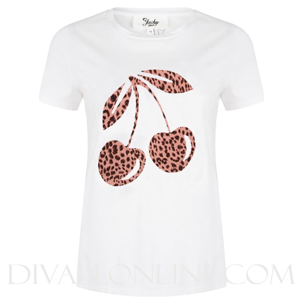 T-Shirt Cherry Leopard Pink