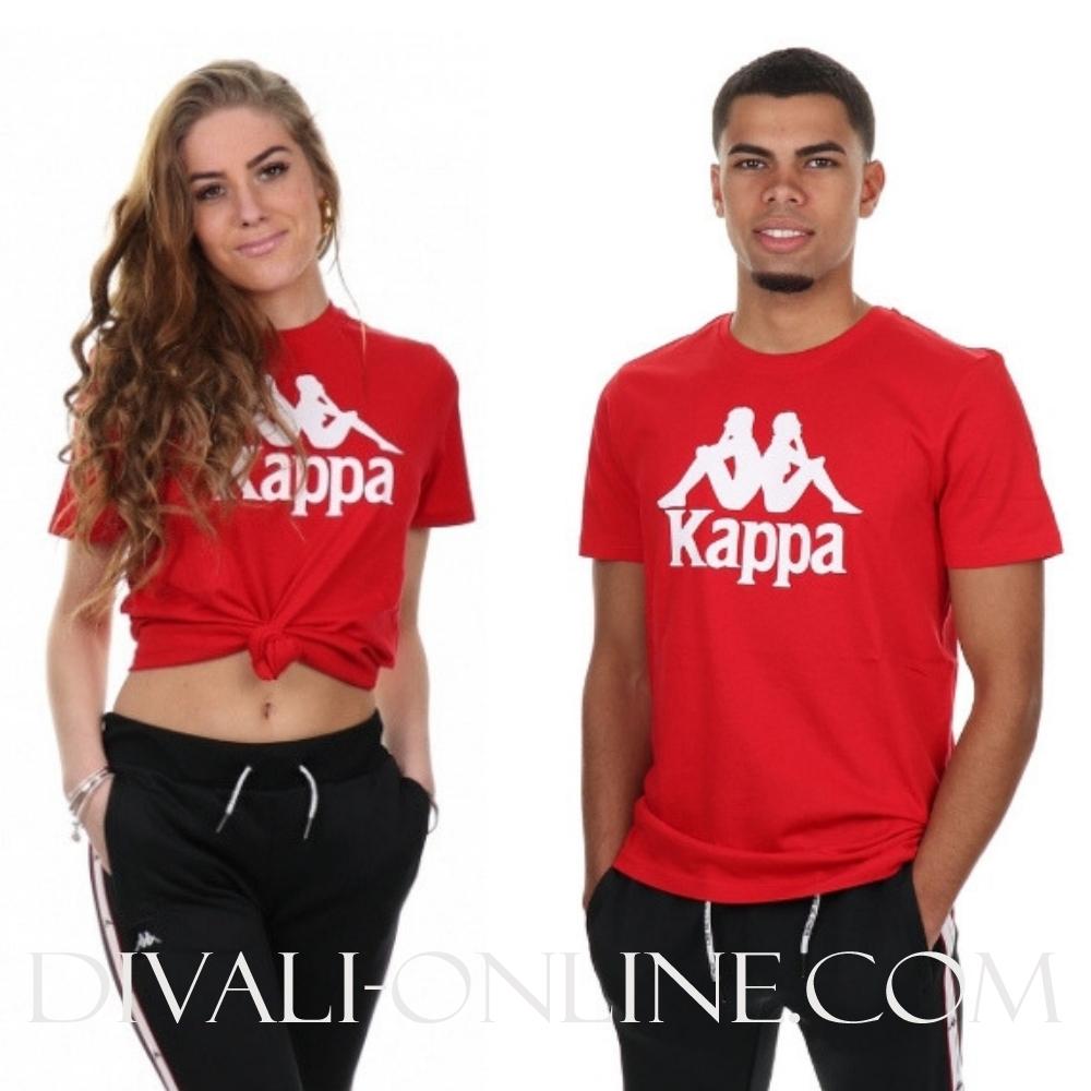 T-shirt Authentic estessi slim red white