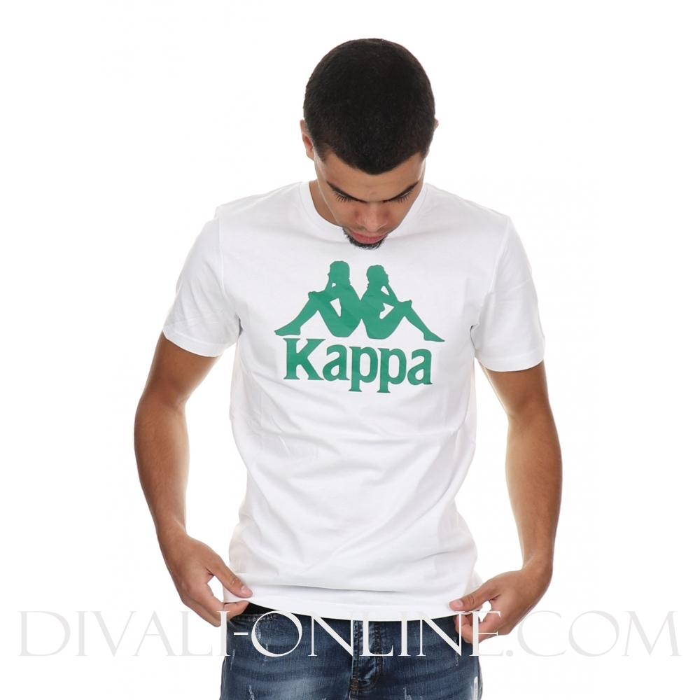 T-shirt Authentic Estessi slim white green