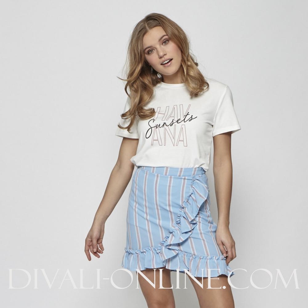 Skirt Ruffle Blue
