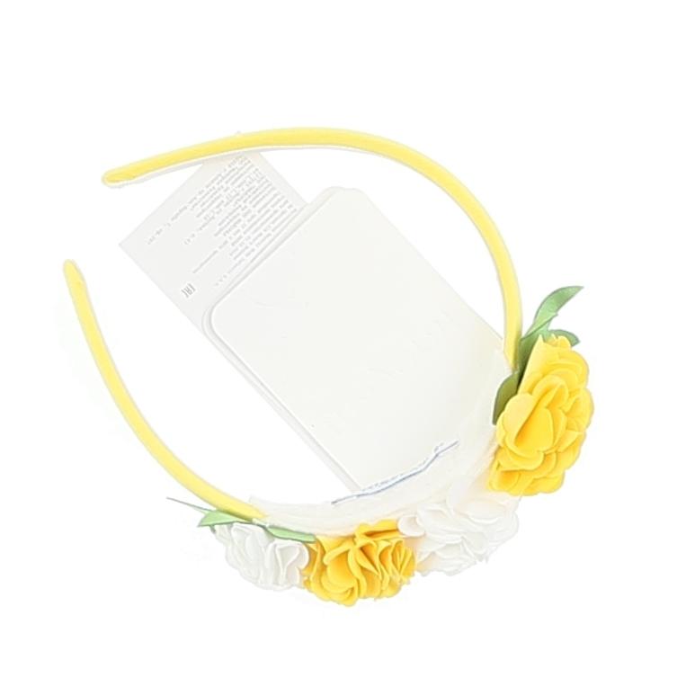 Flowers Headband Yellow