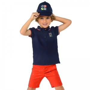 Set Polo + Short Captain Blue Red