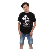 T-shirt Mickey 3D Black