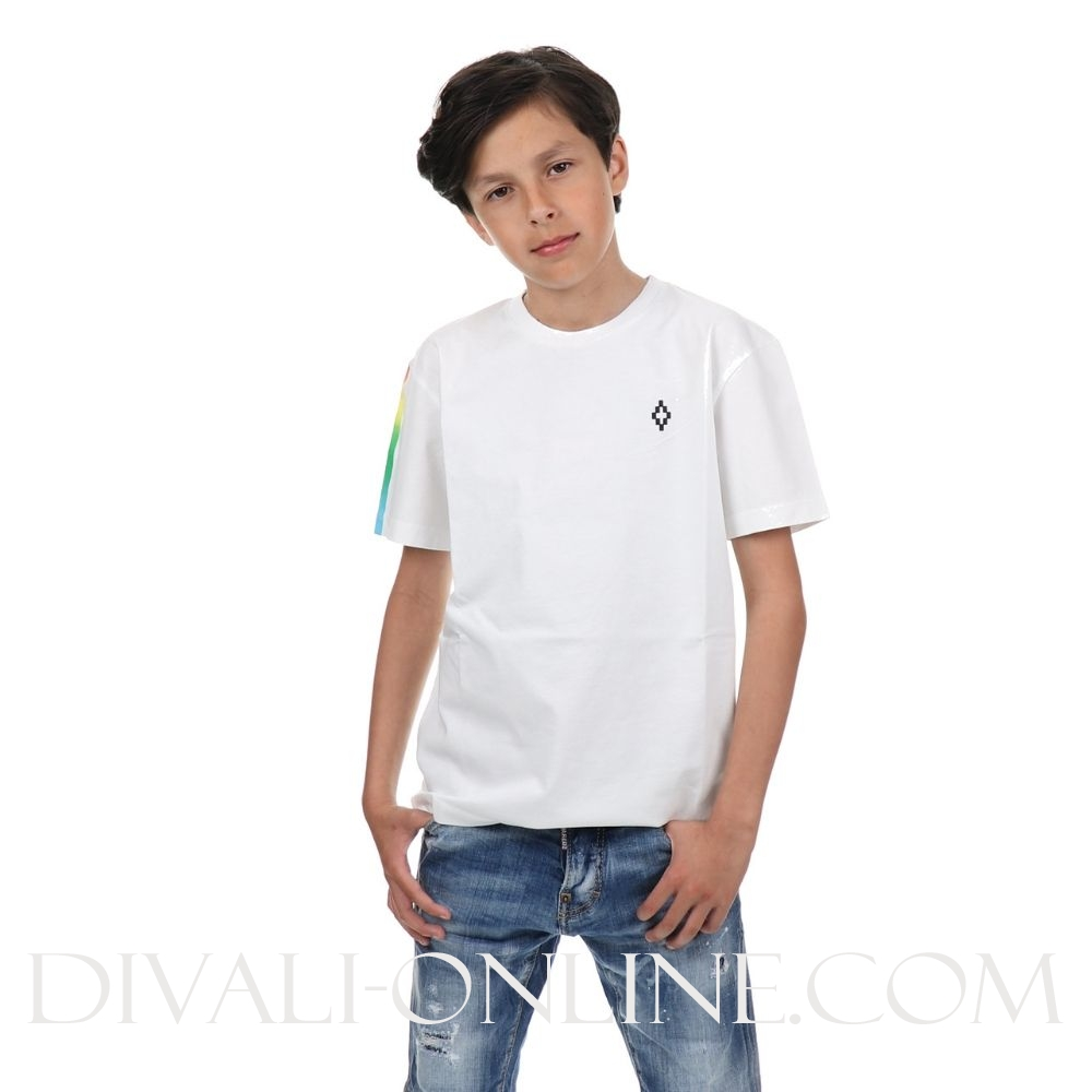 T-shirt White Logo Back