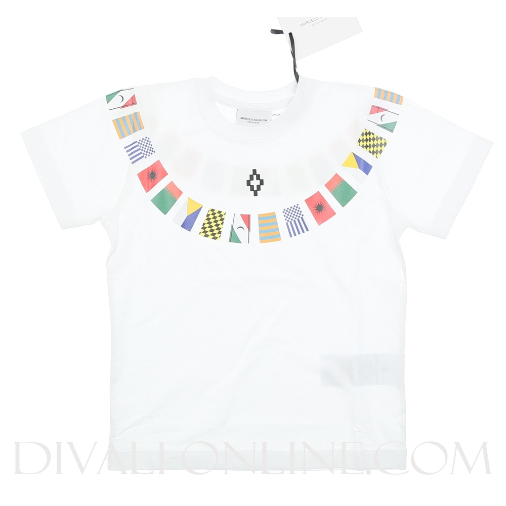 T-shirt Flags White