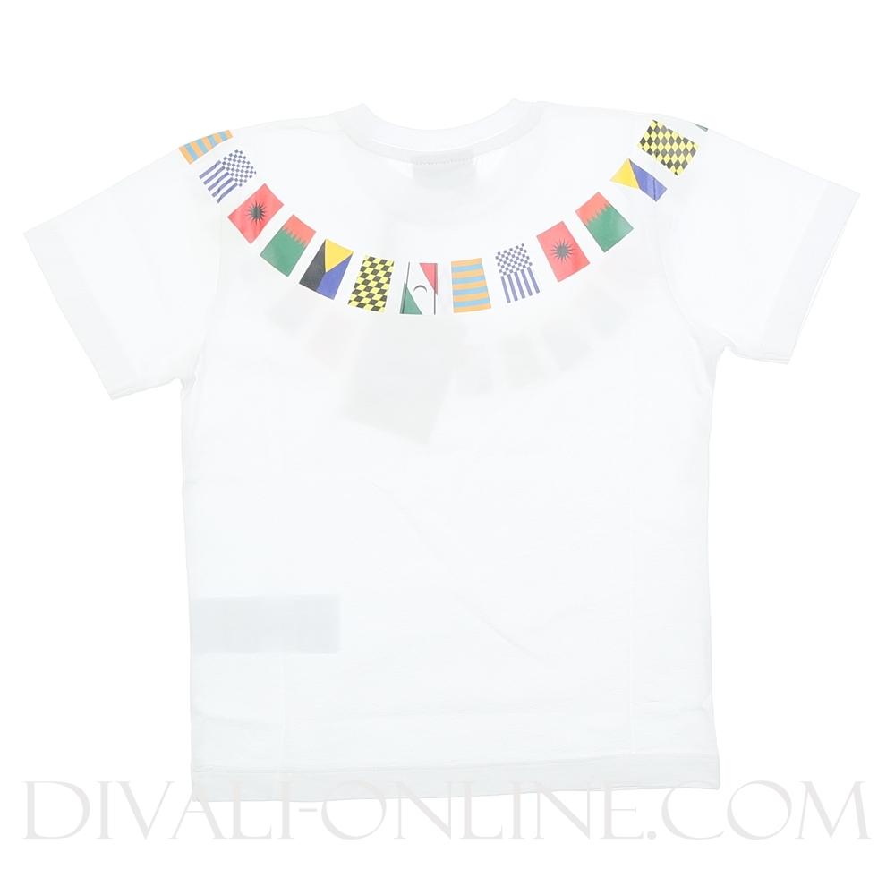 T-shirt Flags White