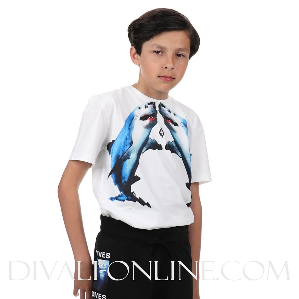 T-shirt Shark White