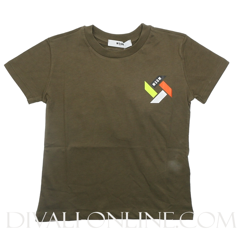 Tshirt Army Color Logo Back