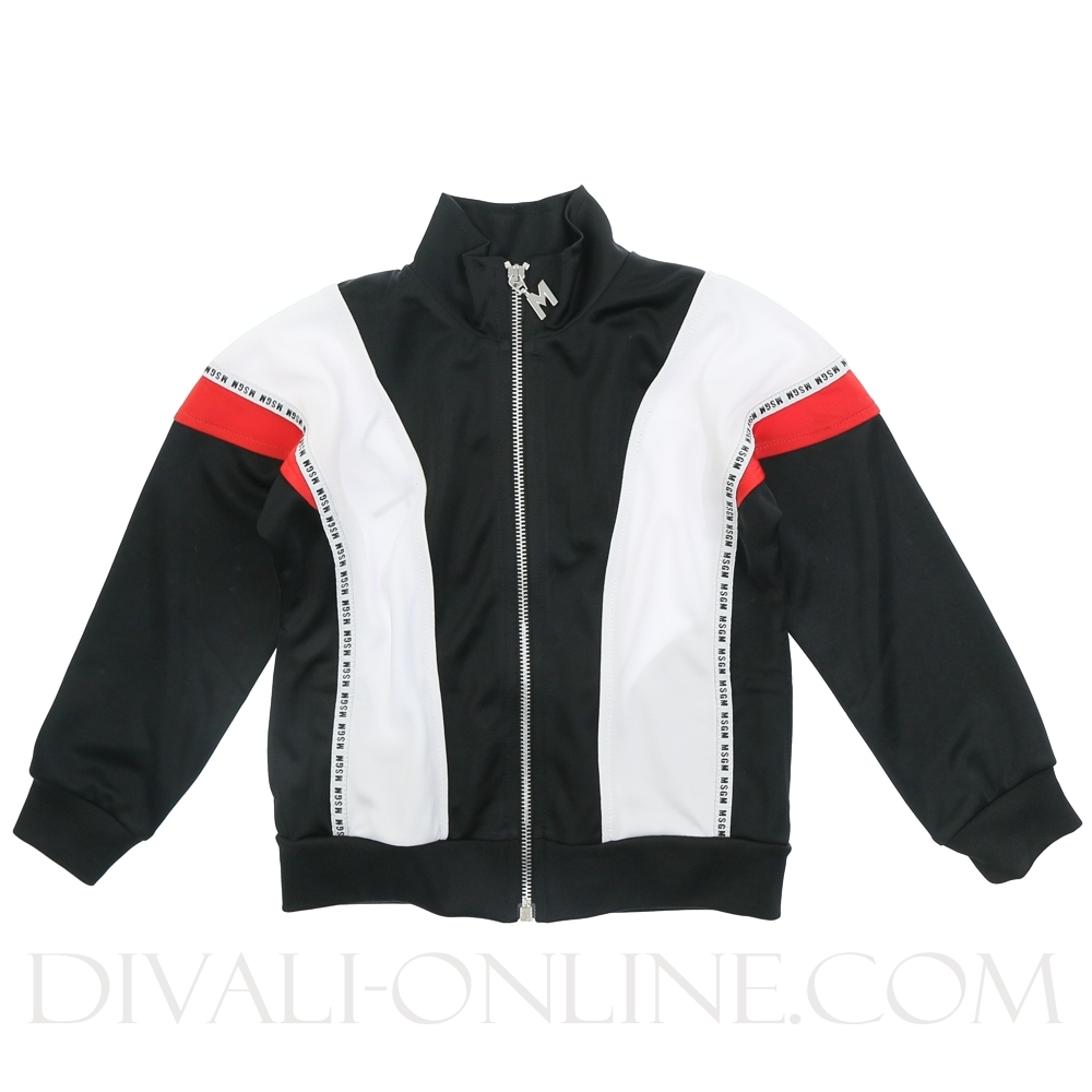 Vest Stripes Black Red