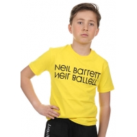Neil Barrett T-shirt Yellow Black Logo