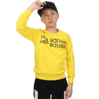 Sweater Yellow Black Logo
