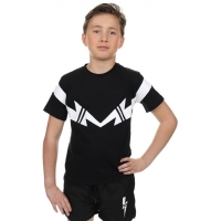 T-shirt Black White Double Thunder