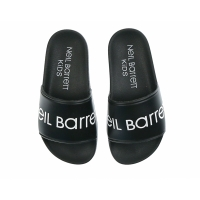 Neil Barrett Slippers Black White Logo