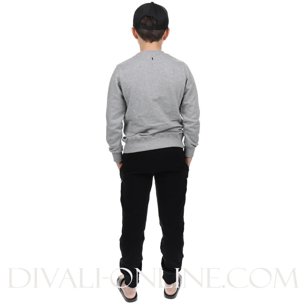 Sweater Grey Black Logo