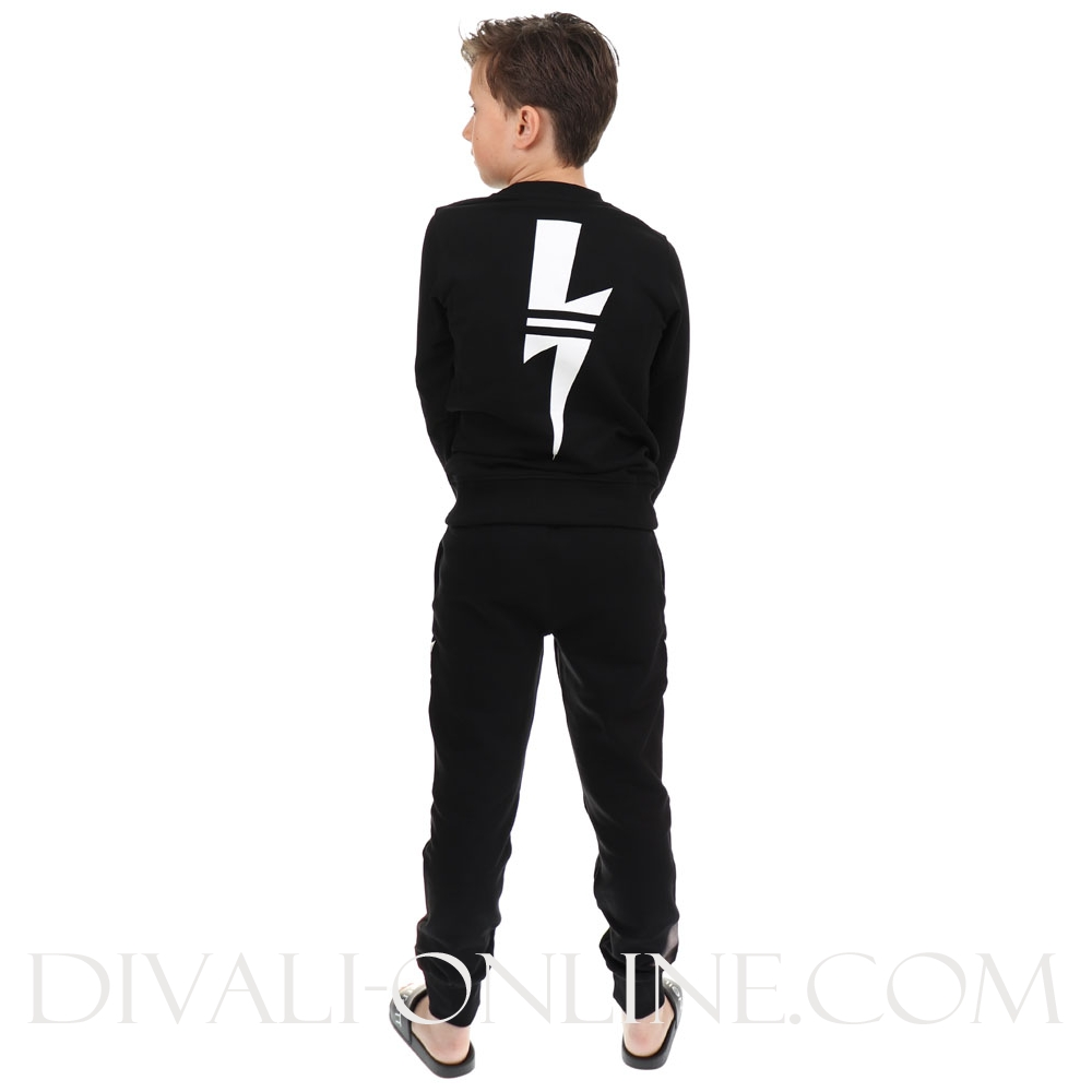 Sweatpants Black White Tunder