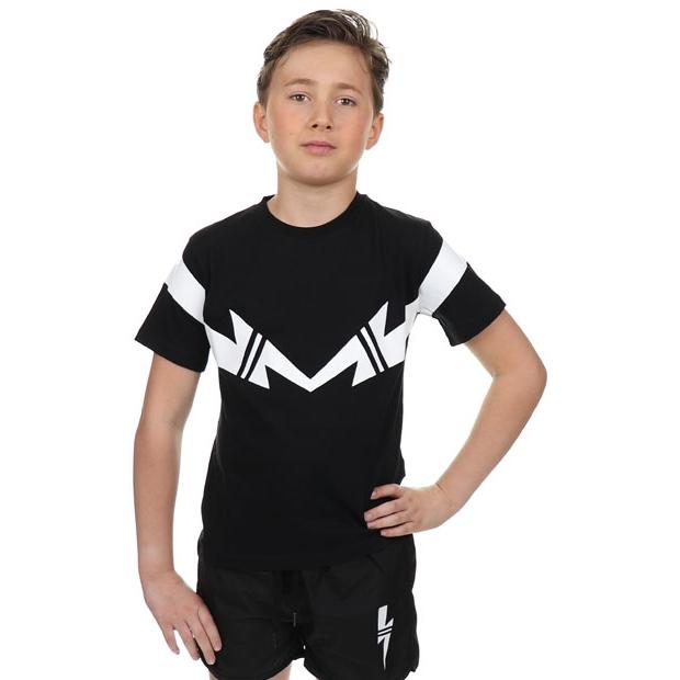 T-shirt Black White Double Thunder
