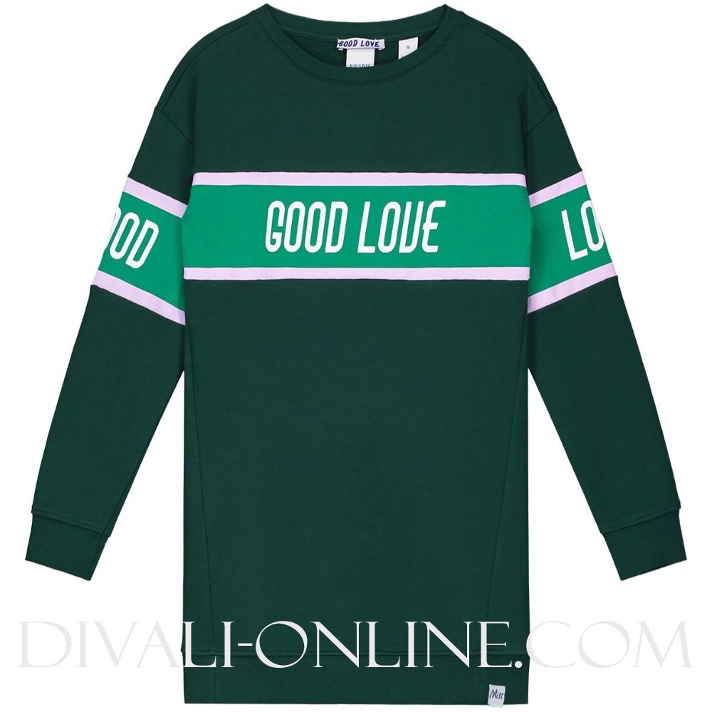 Good Love Sweatdress Dark green