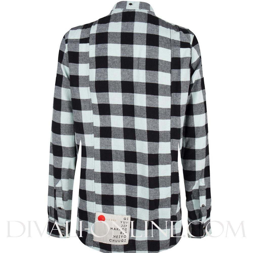 Yama Check Shirt Silent Grey