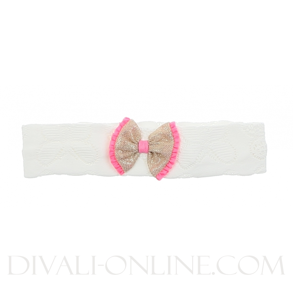 Baby Bandeau White Bow