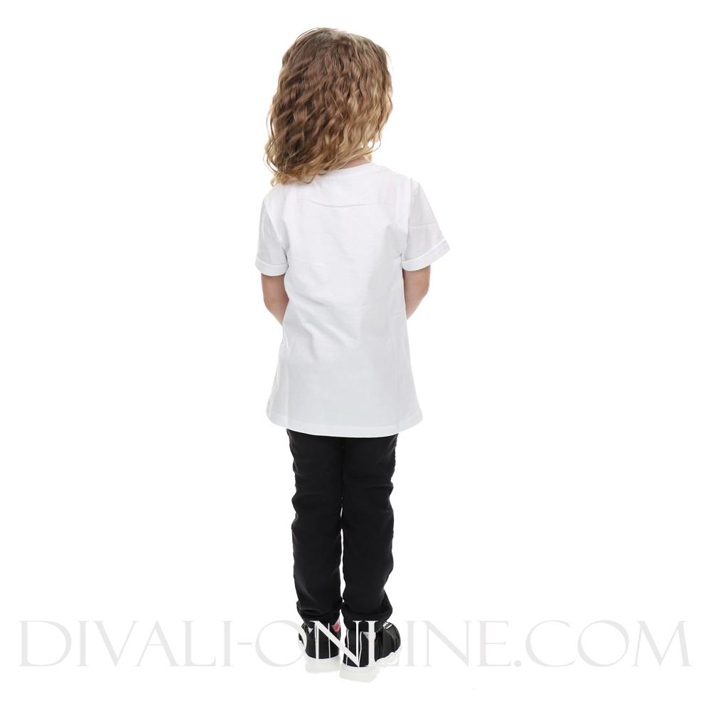 All Over Wit Zwart T-shirt Print Sequins