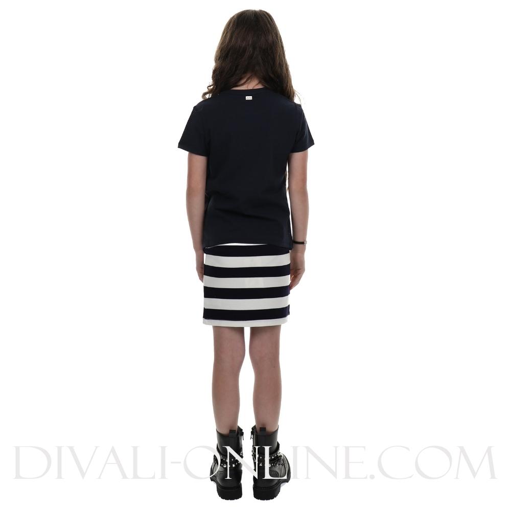 Skirt Stripe Blue Navy
