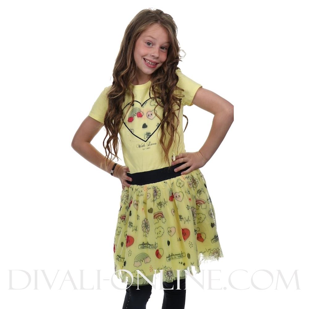 Dress Petticoat Love Fiesta Yellow