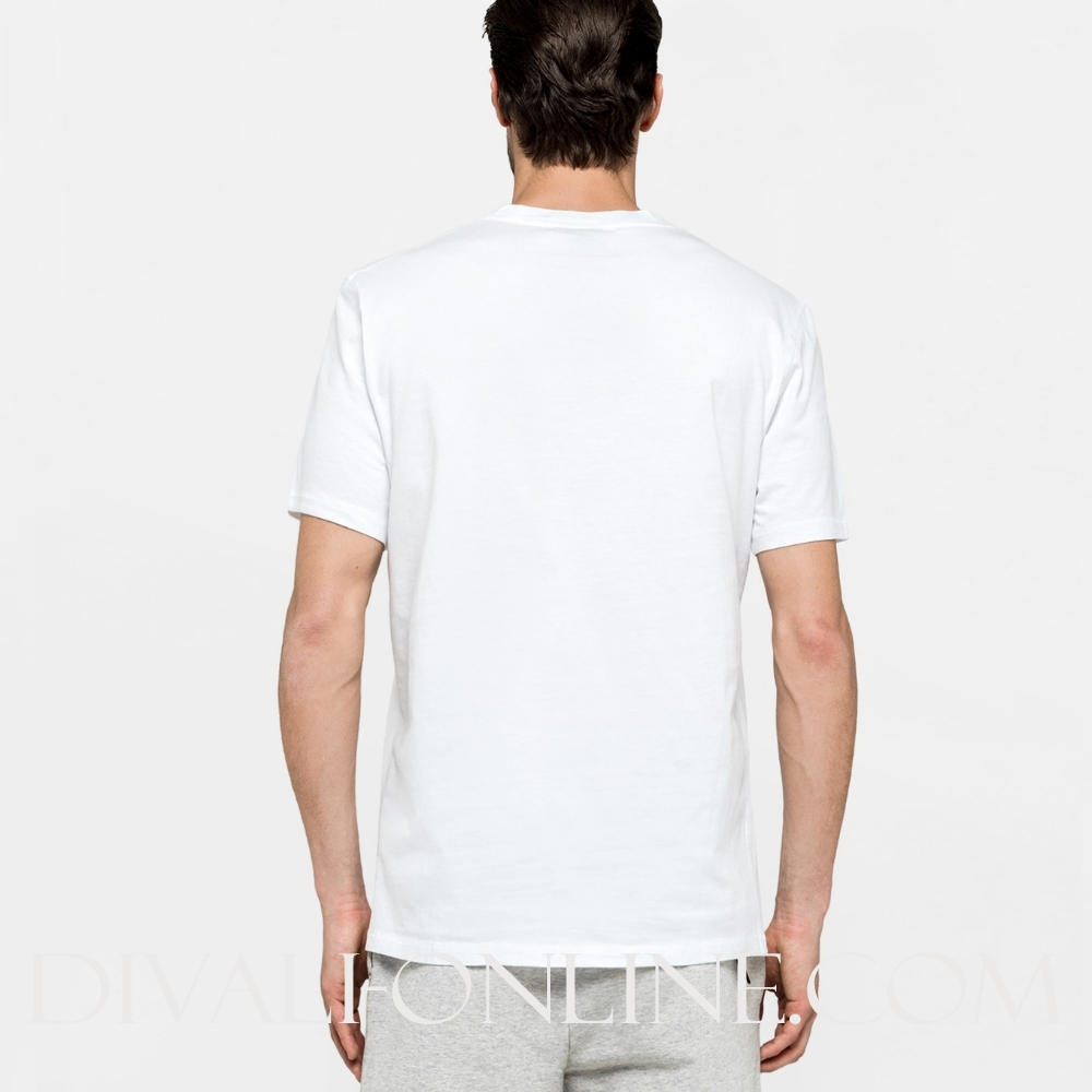 T-shirt Embroidered Logo S/s White