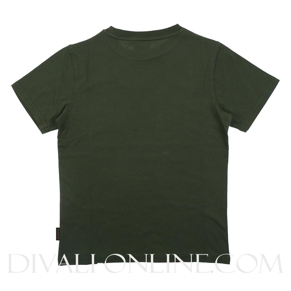 T-shirt Logo Follow The Sun Dark Green