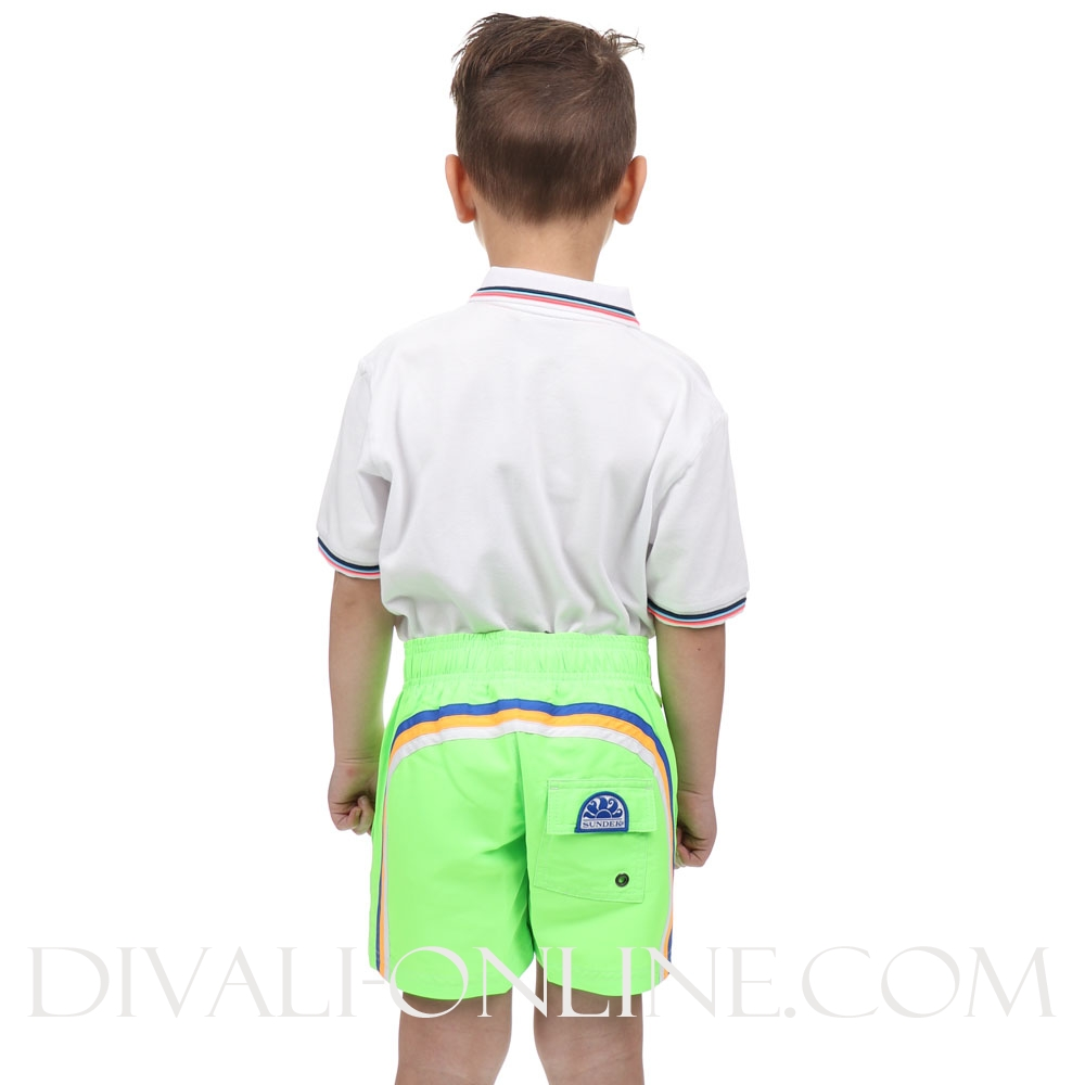 Zwembroek Stripe Fluo Green