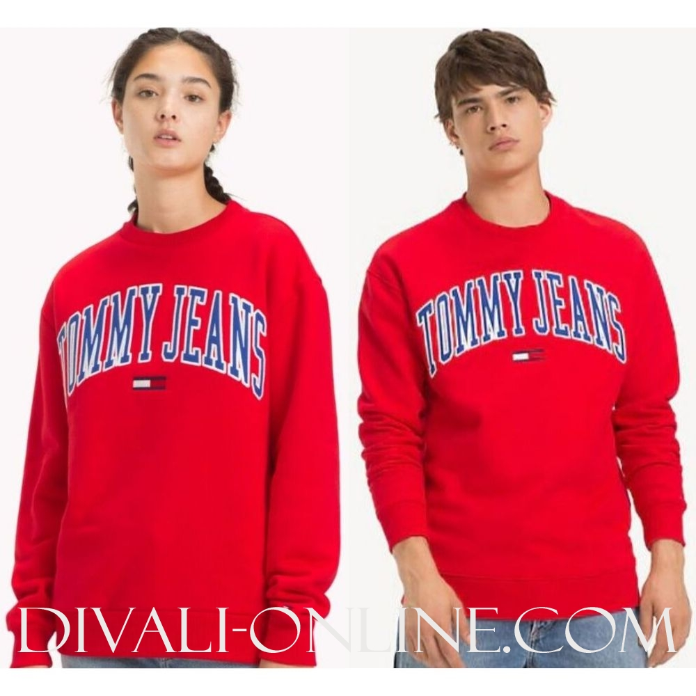 Sweater Clean Collegiate Flame Scarlet