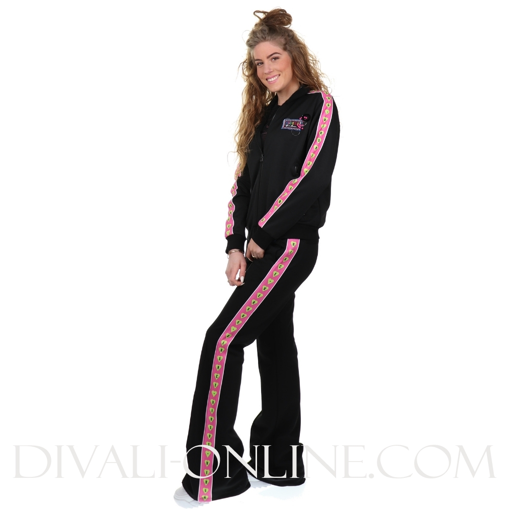 Pantalon Black - pink stripes