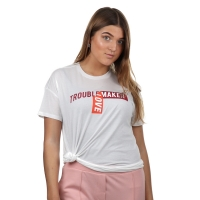 Zoe Karssen Optical White T-Shirt Trouble Maker