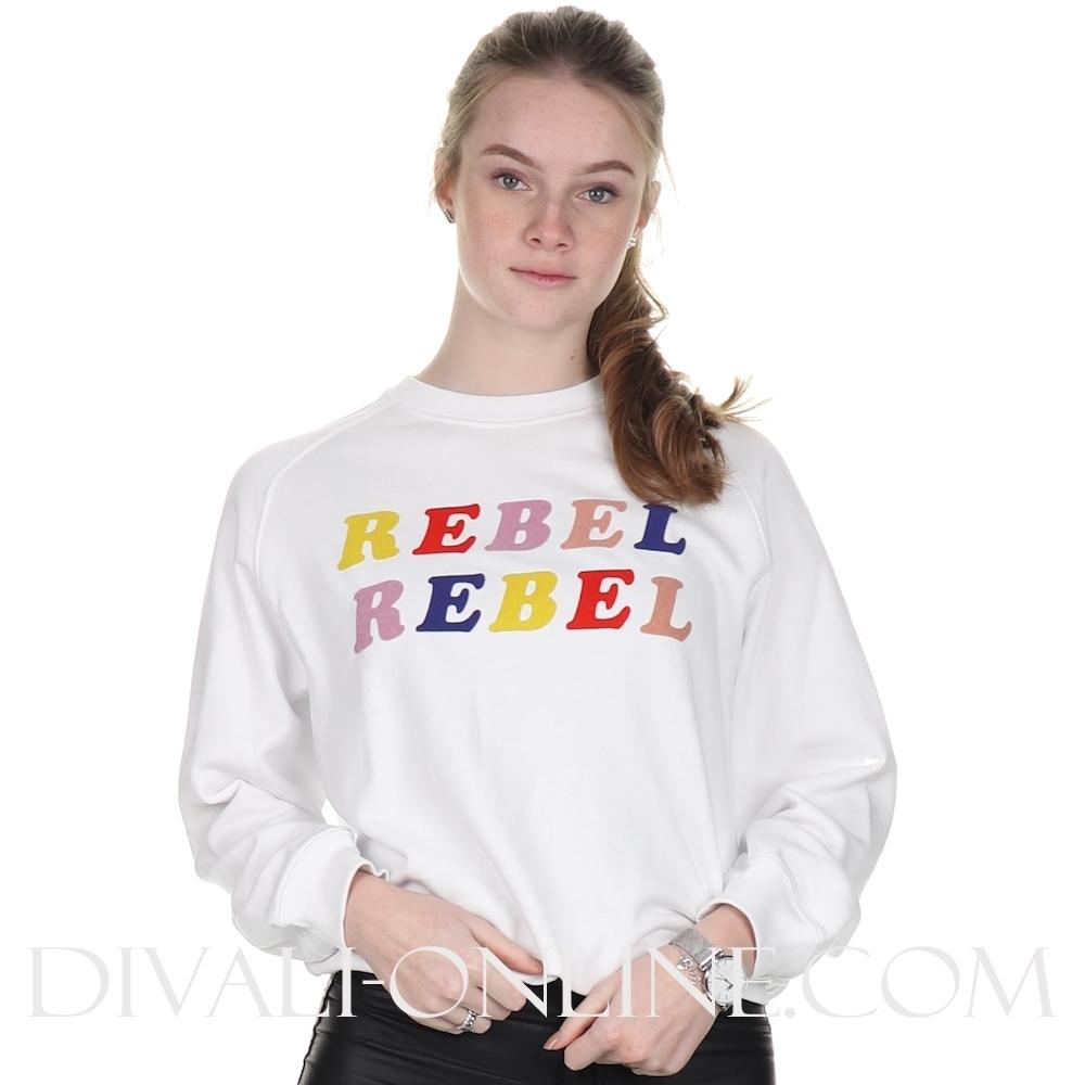 Optical White Sweater Rebel