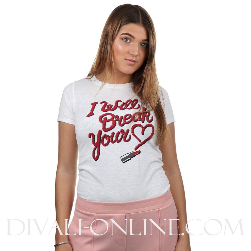 T-shirt I Will Break.. White