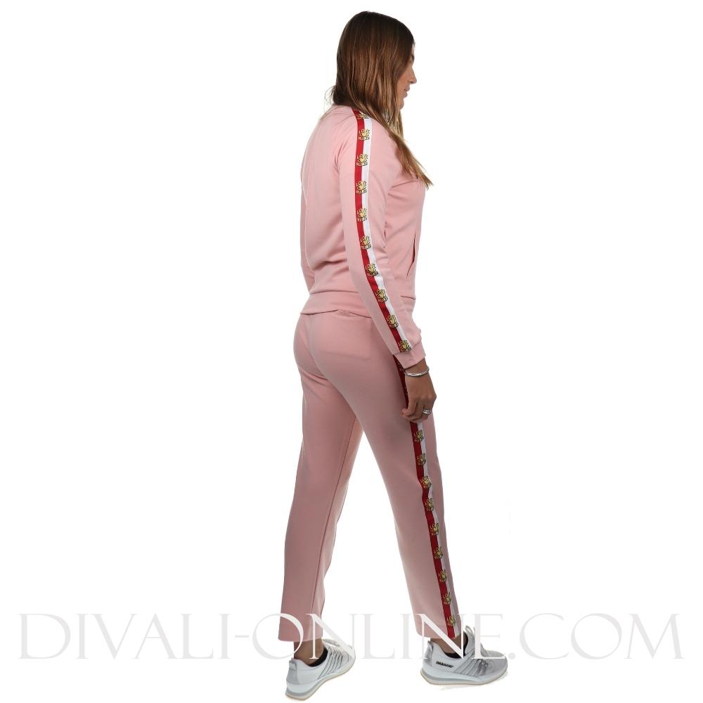 Joggingvest Love Rules Silver pink