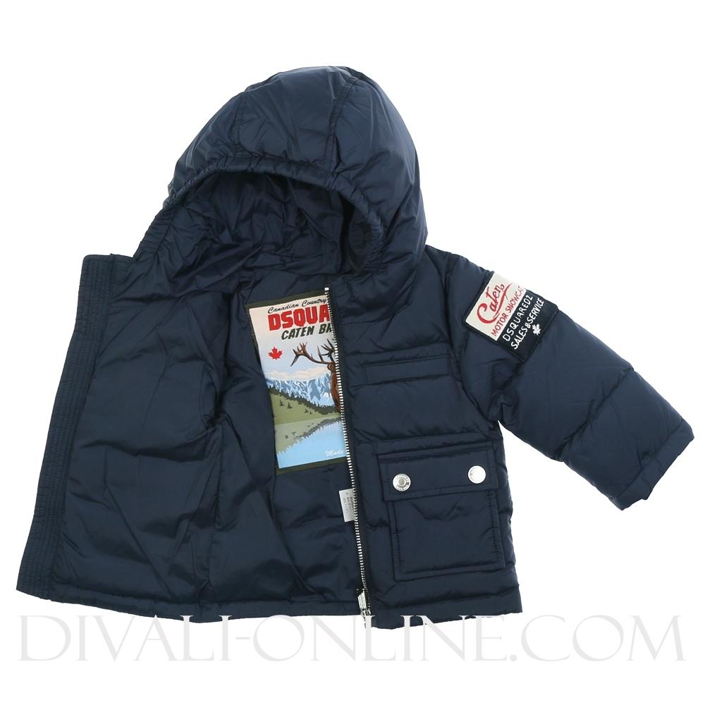 Navy blue winterjas