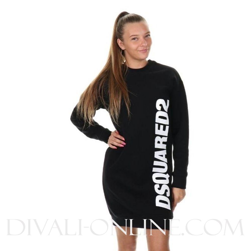 Sweatdress Side logo Black
