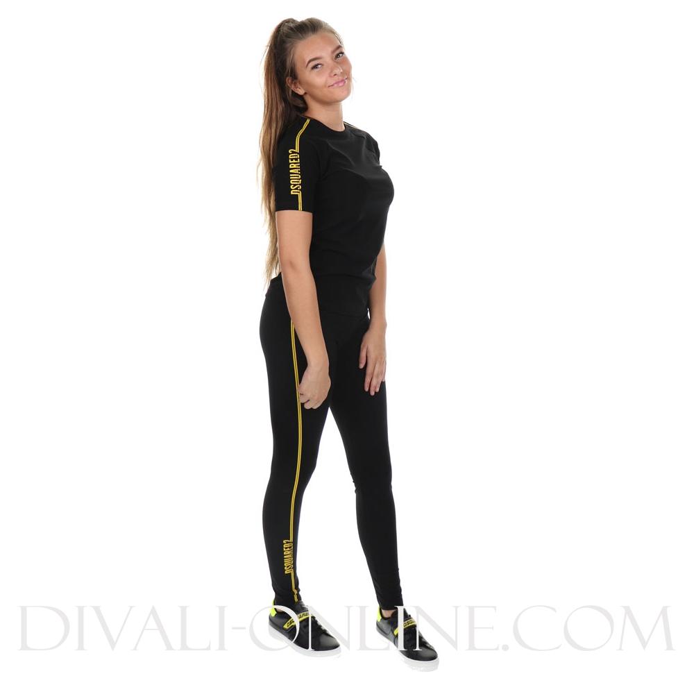 Legging Black met gele details