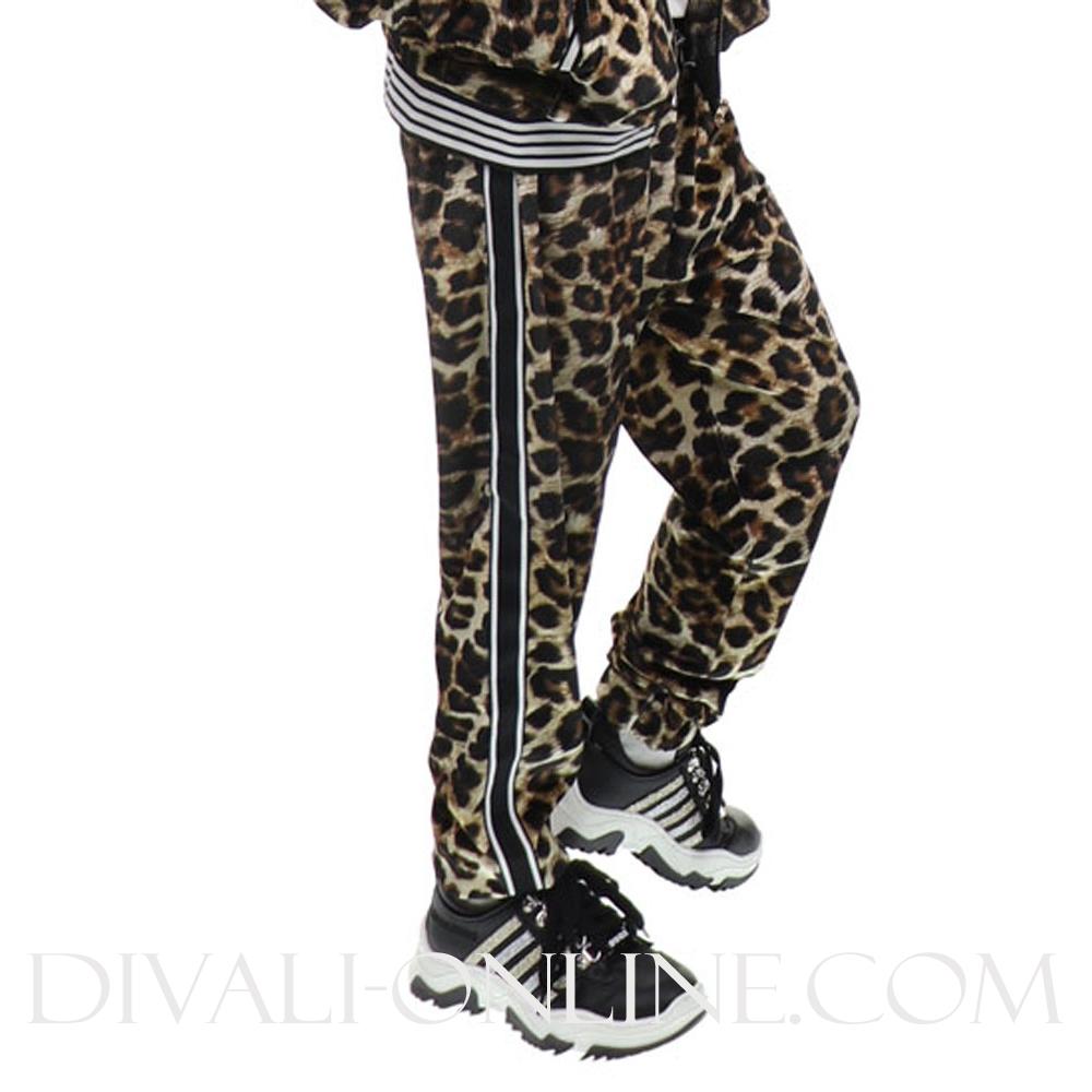 Joggingbroek Leopard Black