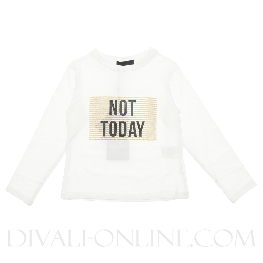 Longsleeve White Not Today