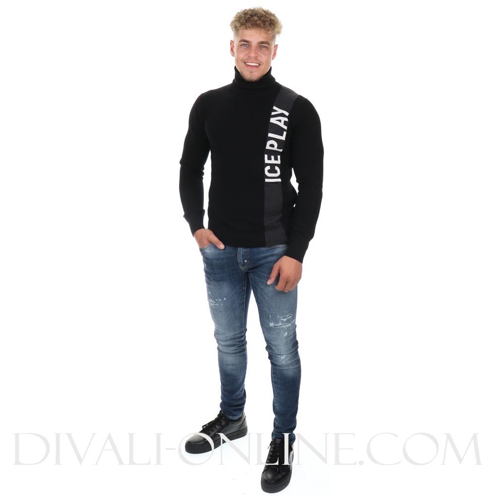 Fijn gebreide trui Black