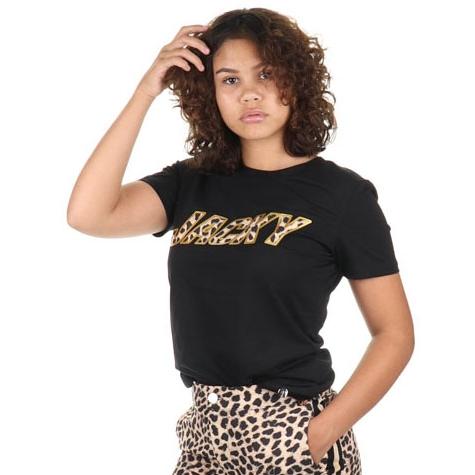 T-shirt Leopard Artwork Black
