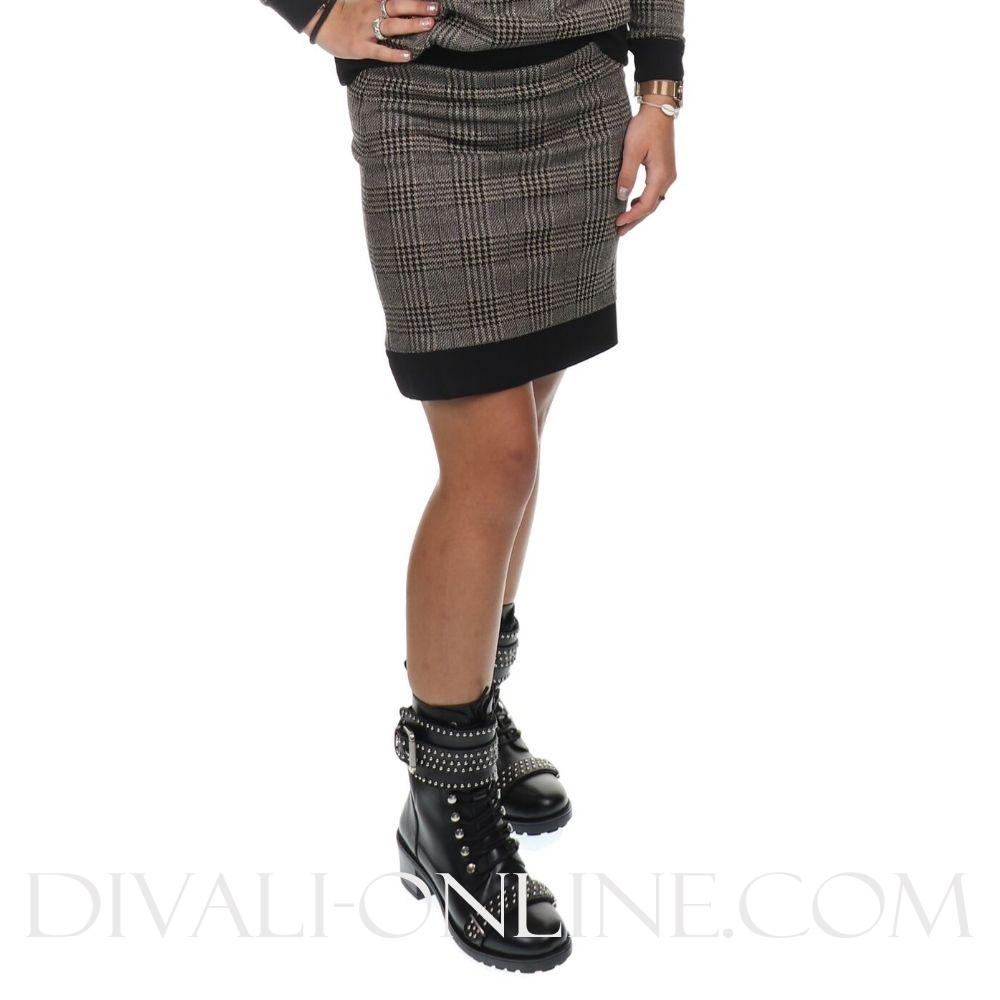 Skirt Check Print